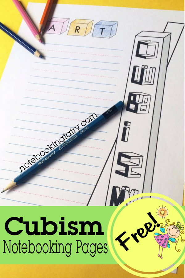 FREE Cubism Notebooking Pages from The Notebooking Fairy