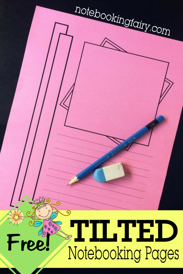 Tilted Notebooking Pages from The Notebooking Fairy