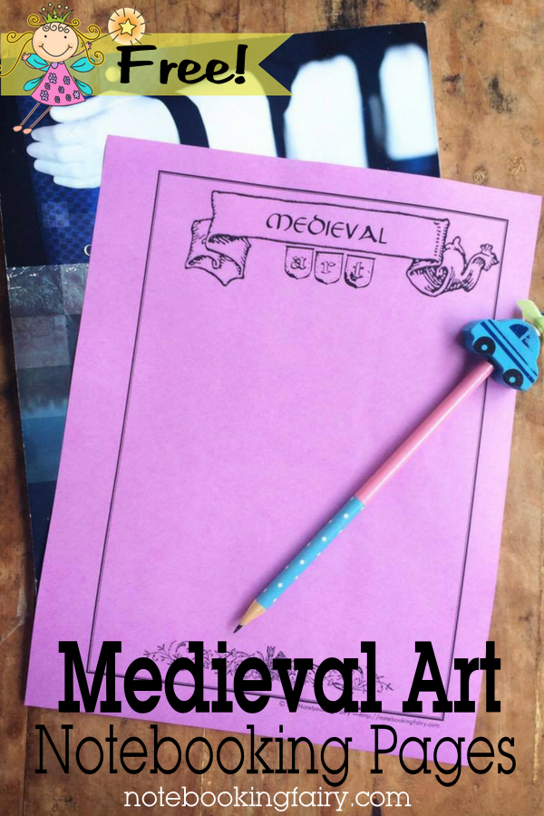 FREE Medieval Art Notebooking Pages from the Notebooking Fairy