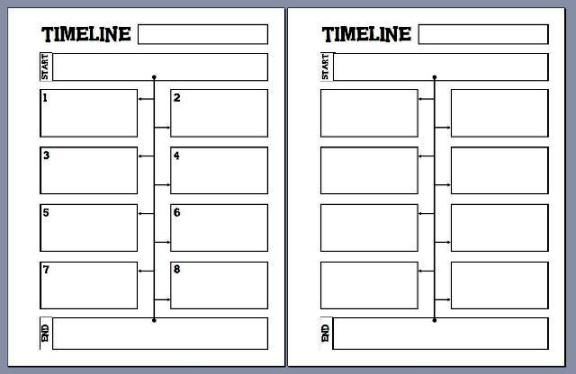 Pages Timeline Template  BesikEightyCo