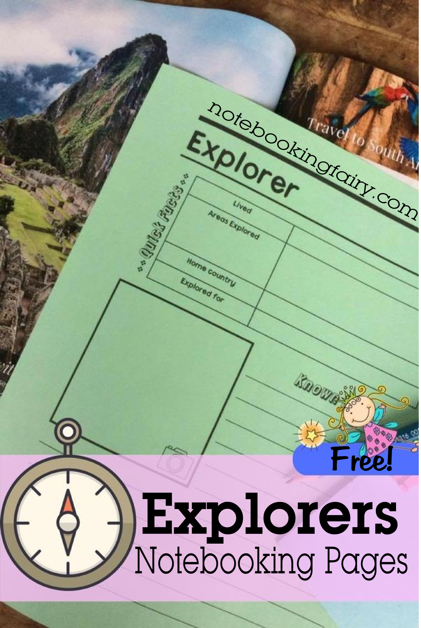 Explorers Notebooking Pages Free from the Notebooking Fairy!