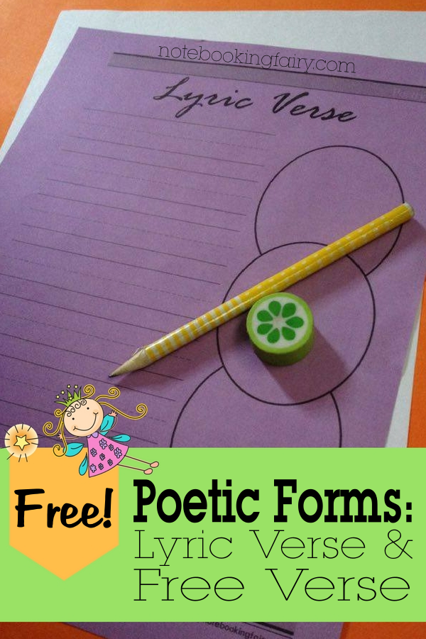 FREE Poetic Forms:  Lyric Verse and Free Verse from the Notebooking Fairy