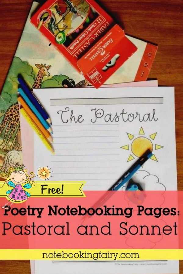FREE Poetic Forms: Pastoral and Sonnet from The Notebooking Fairy!