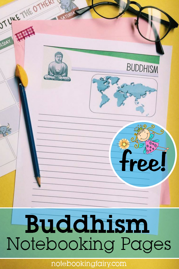 Buddhism Notebooking Pages FREE from the Notebooking Fairy