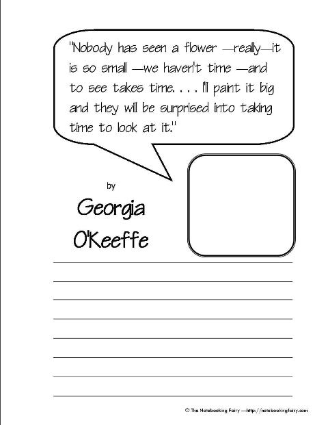 okeefe coloring pages - photo #40
