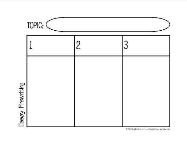 Prewriting the Essay Graphic Organizer 2