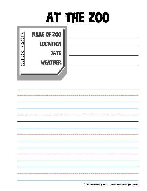 zoo field trip notebooking pages. Black Bedroom Furniture Sets. Home Design Ideas