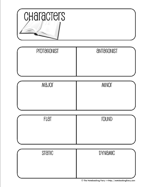 character notebooking pages. Black Bedroom Furniture Sets. Home Design Ideas