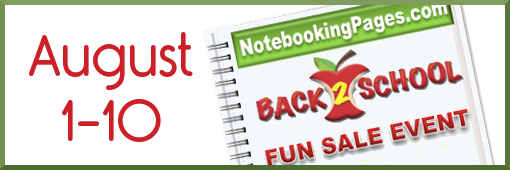 Back to School Sale at Notebooking Pages