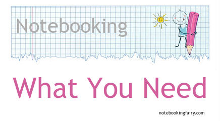 what you need for homeschool notebooking