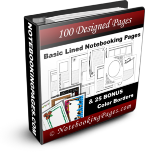 free 200 pages from Notebooking Pages