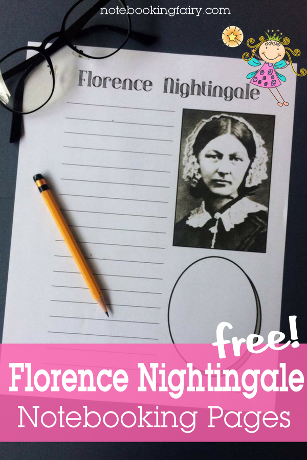 Florence Nightingale Notebooking Pages FREE from the Notebooking Fairy