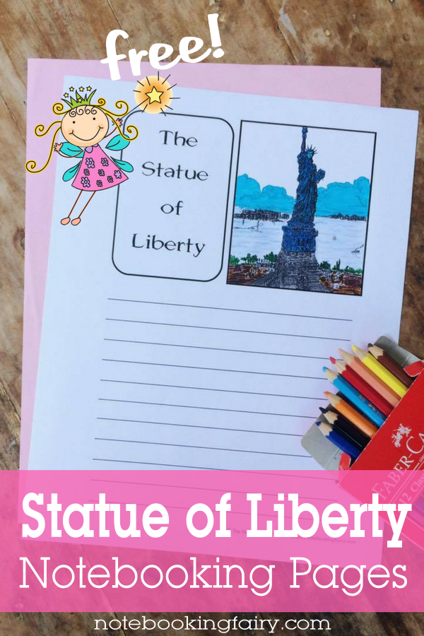 Statue of Liberty Notebooking Pages FREE from the Notebooking Fairy
