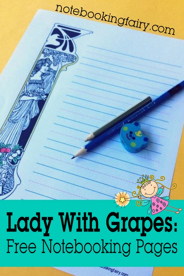 Lady With Grapes: FREE Notebooking Pages From The Notebooking Fairy