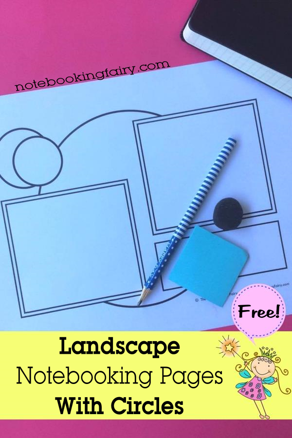 Landscape Notebooking Pages With Circles FREE from The Notebooking Fairy