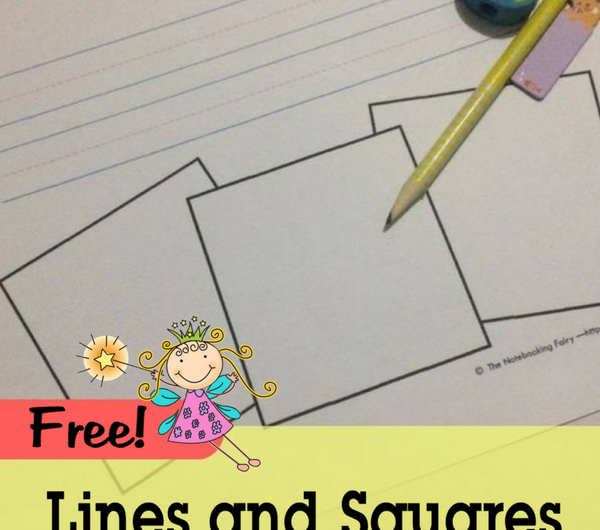 Lines and Squares Notebooking Pages Free from the Notebooking Fairy
