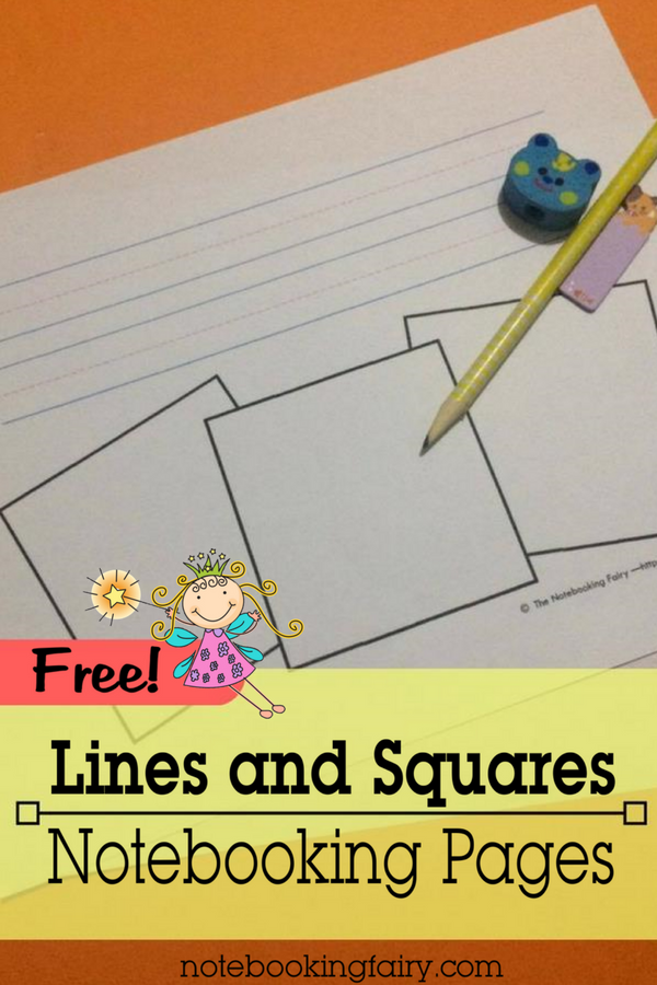 FREE Lines and Squares Notebooking Pages from the Notebooking Fairy!