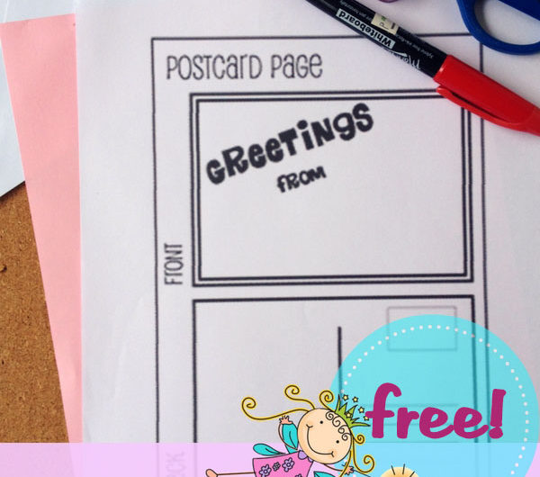 Free Postcard Notebooking Pages from The Notebooking Fairy