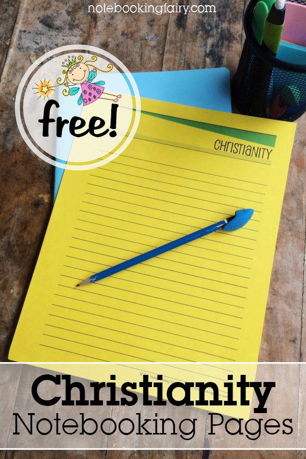 FREE Christianity Notebooking Pages from the Notebooking Fairy