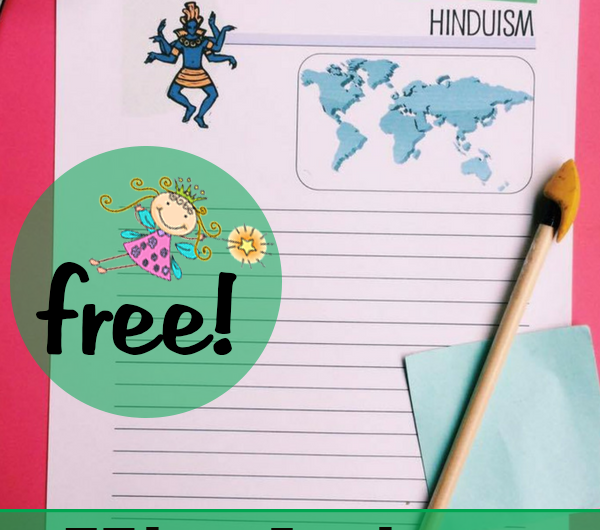 FREE Hinduism Notebooking Pages from the Notebooking Fairy