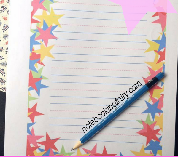 Multi-colored Stars Notebooking Pages FREE from The Notebooking Fairy