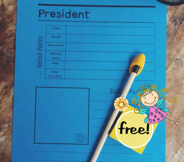 President Notebooking Pages FREE from the Notebooking Fairy