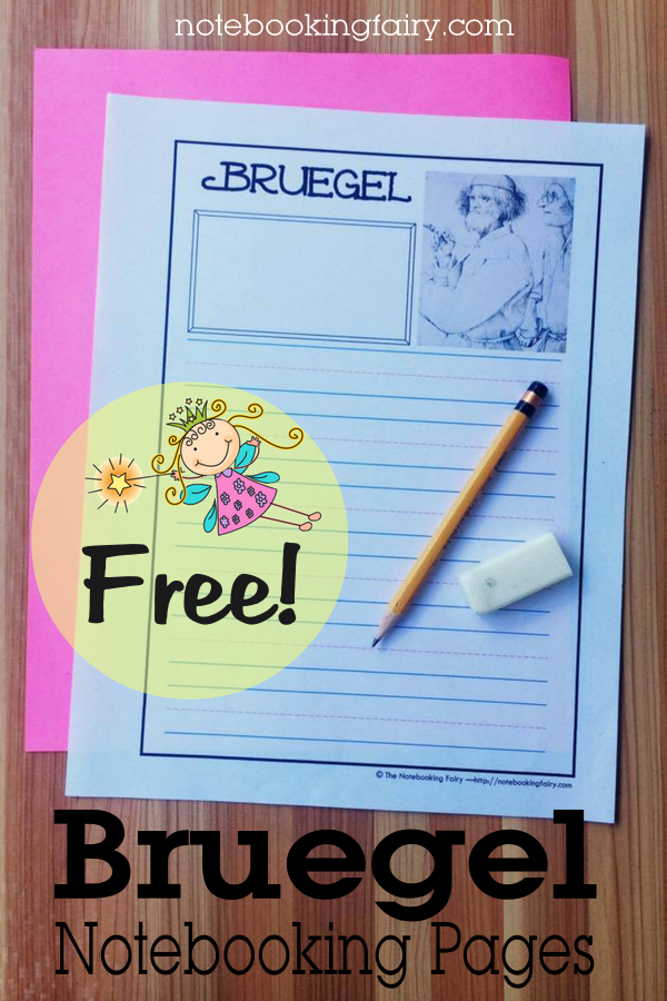 FREE Bruegel Notebooking Pages from the Notebooking Fairy!