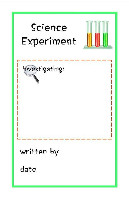 Science experiment booklet notebooking fairy for Science fair labels templates