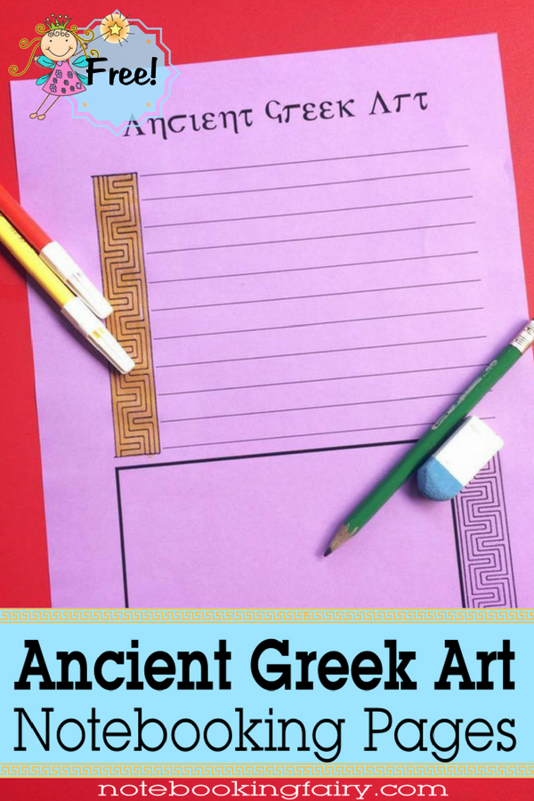 Ancient Greek Art Notebooking Pages FREE from the Notebooking Fairy
