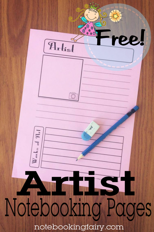 FREE Artist Notebooking Pages from the Notebooking Fairy