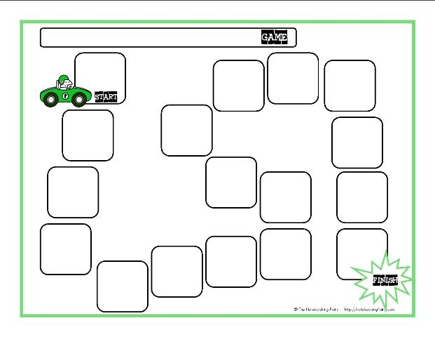 photograph relating to Printable Game Board called Recreation Board Templates Notebooking Fairy