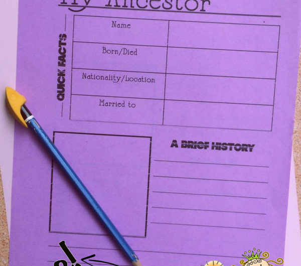 Ancestor Notebooking Pages FREE from the Notebooking Fairy