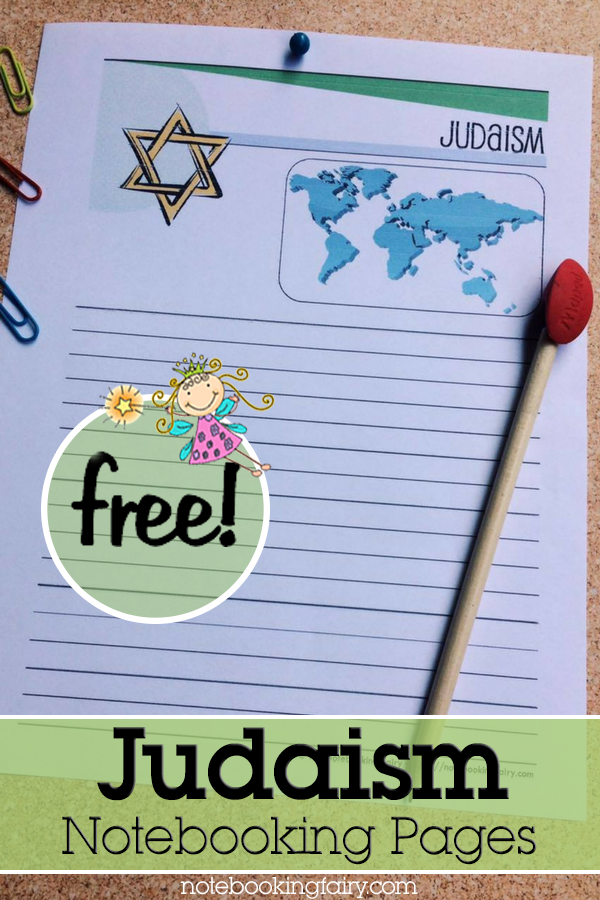 Judaism Notebooking Pages FREE from the Notebooking Fairy