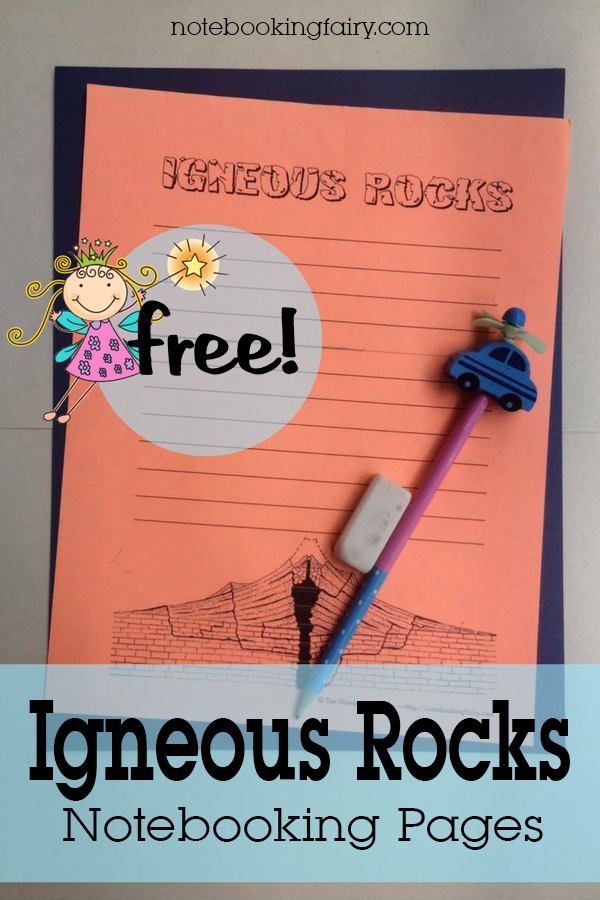 FREE Igneous Rocks Notebooking Pages from The Notebooking Fairy