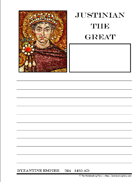 justinian the great and hagia sophia notebooking pages notebooking fairy. Black Bedroom Furniture Sets. Home Design Ideas