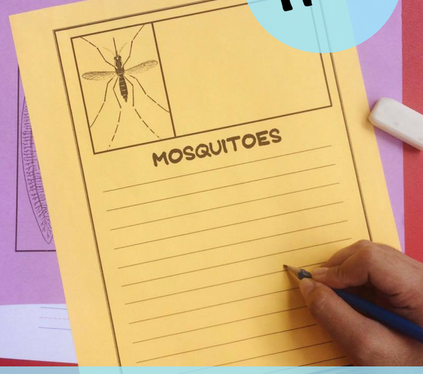 Mosquito Notebooking Pages FREE from The Notebooking Fairy
