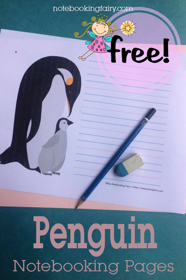 FREE Penguin Notebooking Pages from the Notebooking Fairy