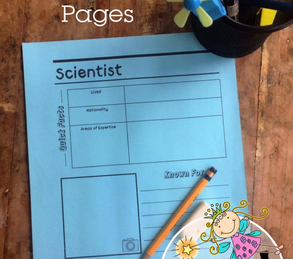 FREE Scientist Notebooking Pages from The Notebooking Fairy