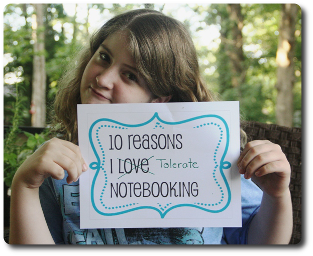 why my daughter loves notebooking