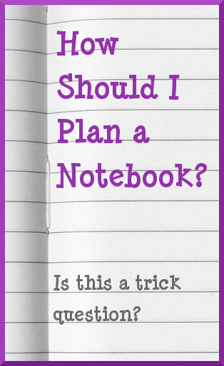 How Should I Plan a Notebook? from The Notebooking Fairy