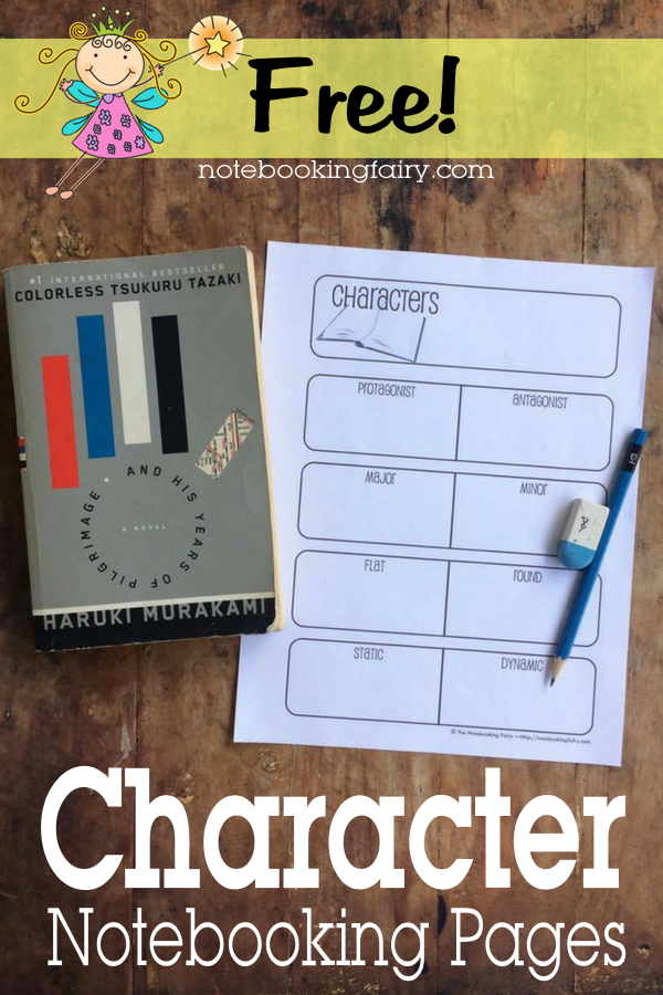 Character Notebooking Pages FREE from the Notebooking Fairy