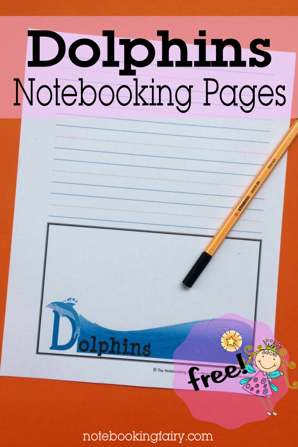 FREE Dolphins Notebooking Pages from the Notebooking Fairy