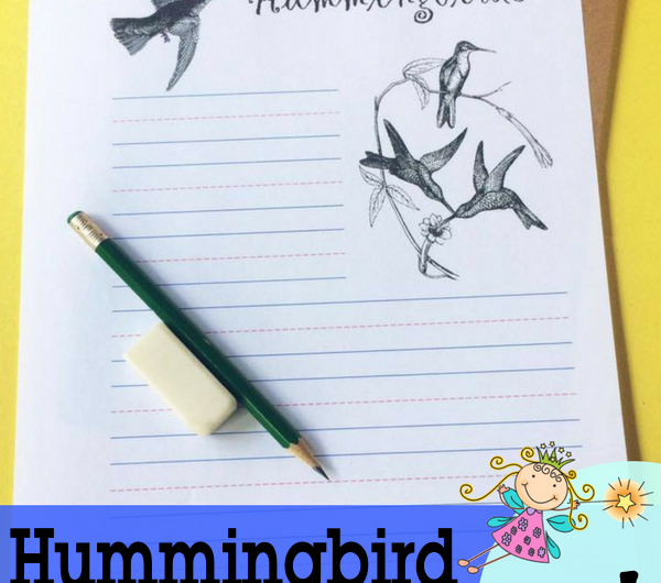FREE Hummingbird Notebooking Pages from the Notebooking Fairy