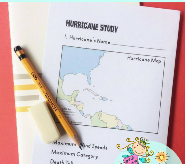 FREE Hurricane Booklet Notebooking Pages from the Notebooking Fairy