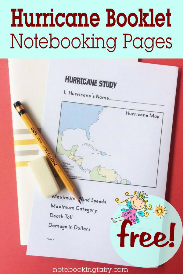 hurricane booklet for notebooking notebooking fairy. Black Bedroom Furniture Sets. Home Design Ideas