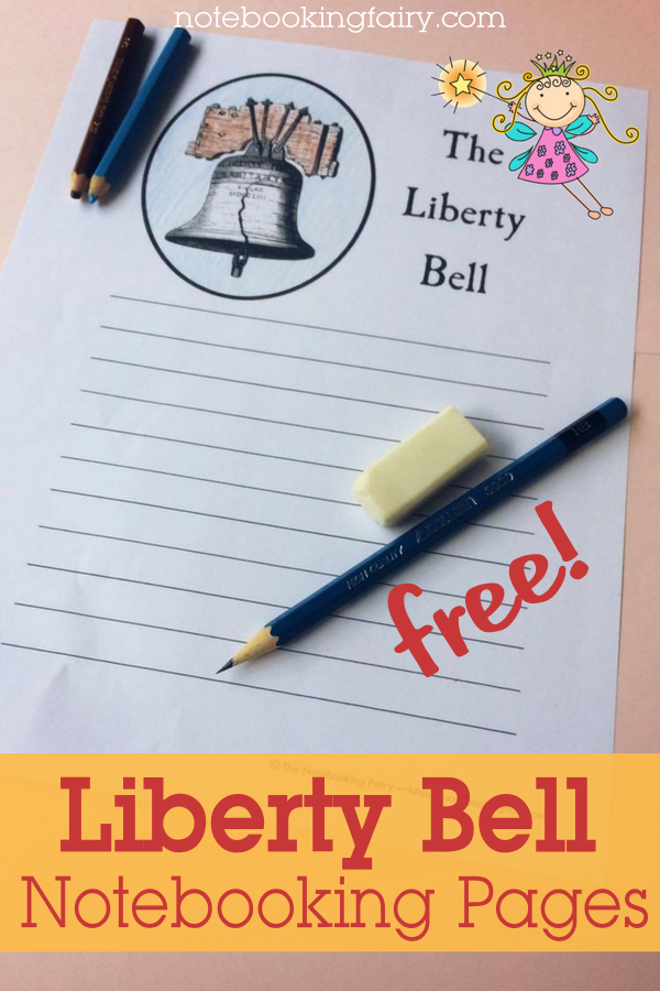 Liberty Bell Notebooking Pages FREE from the Notebooking Fairy