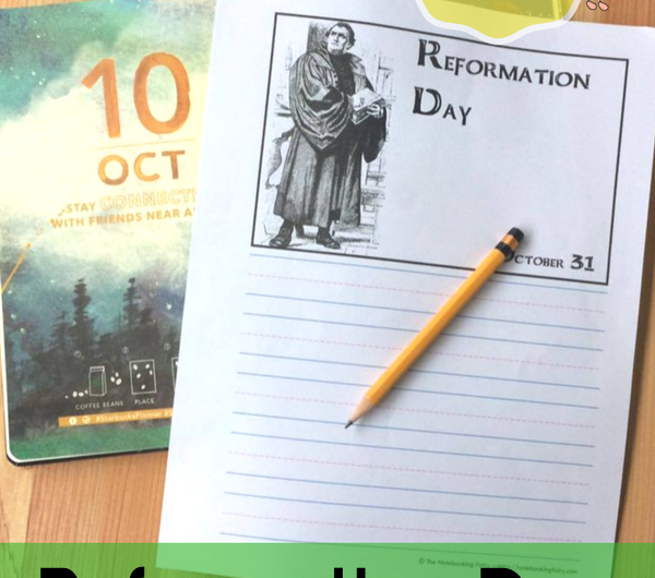 FREE Reformation Day Notebooking Pages from the Notebooking Fairy