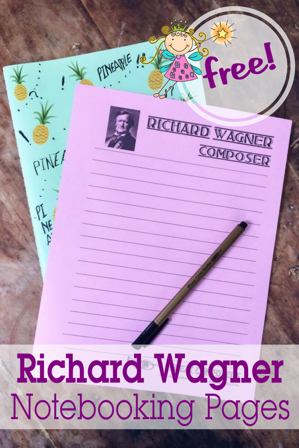 Richard Wagner Notebooking Pages FREE from the Notebooking Fairy