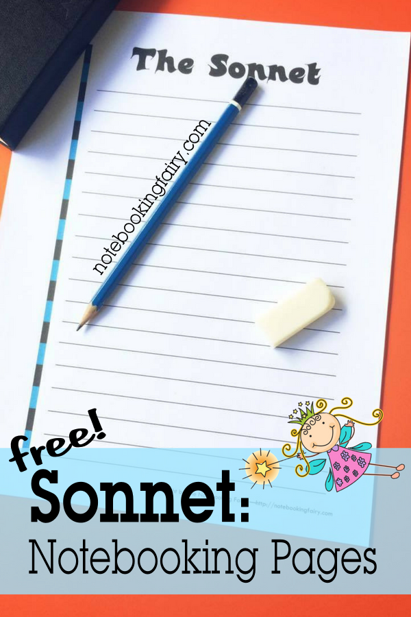 Sonnets: Free Poetry Notebooking Pages for Homeschool