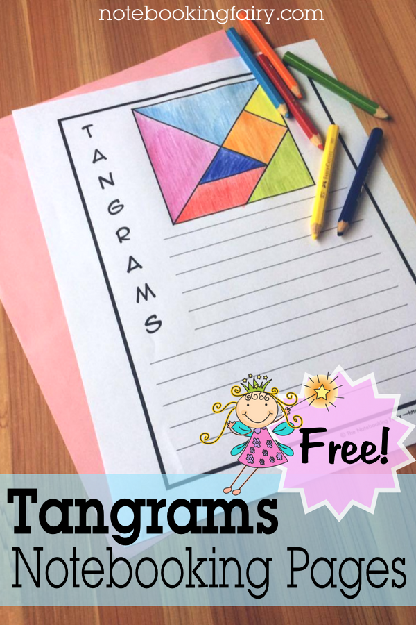Tangrams Notebooking Pages FREE from the Notebooking Fairy